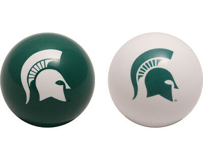 NCAA Imperial College Michigan State Spartans Pool Billiard Cue/8 Ball- One Pair