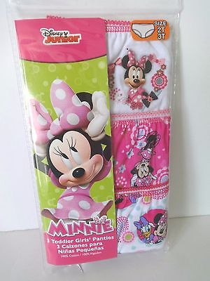 Toddler Girls Disney Minnie Mouse 3 Pack Panties Size 2T/3T