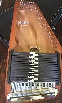 Vintage Autoharp Zither By Oscar Schmidt Model 15 EBH/R 1879-1979 With Case