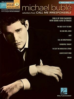 Michael Buble - Call Me Irresponsible - Pro Vocal Men's Edition Volume 61 Book