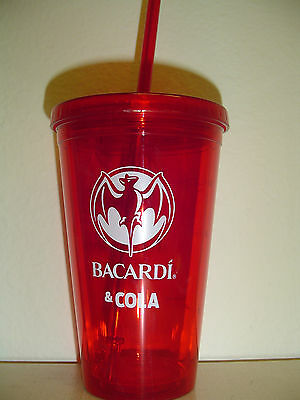 4 (four)Bacardi & Cola 14 ounce insulated plastic cups - New