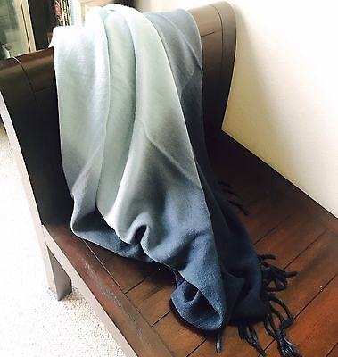 Navy And Light Blue Throw Blanket - New with Tags