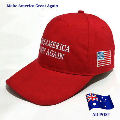 Trump Make America Great Again 2016 Red Quality Embroided Adjustable Cap Hat BO