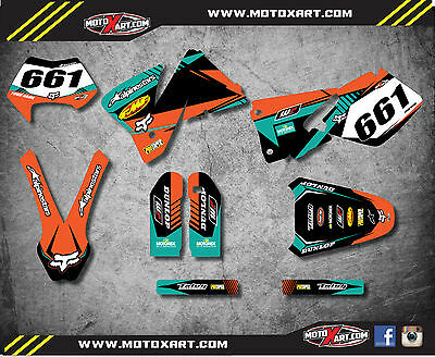 Custom graphics full kit VITAL style stickers to fit KTM EXC 2001 2002