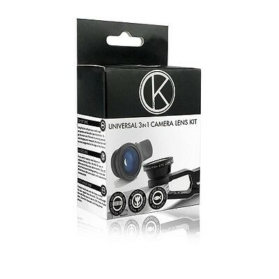 Camkix Universal 3 in 1 Cell Phone Camera Lens Kit - Fish Eye Lens / 2 in 1