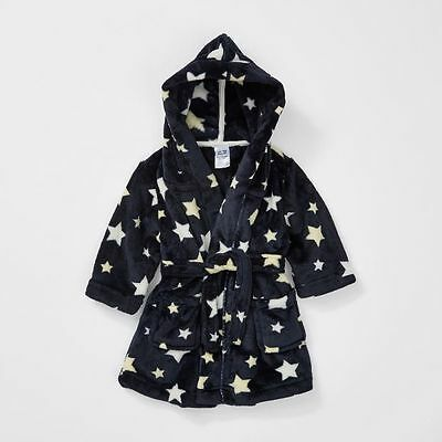 NEW Baby Star Dressing Gown With Hood Kids