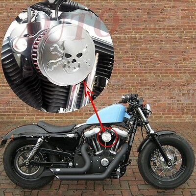 US Motorcycle Air Cleaner Intake Filter for Harley Sportster XL 883 1200 Chrome