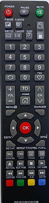 SONIQ TV Remote for SONIQ model QT166, QT155, QT155S - NO SETUP NEEDED