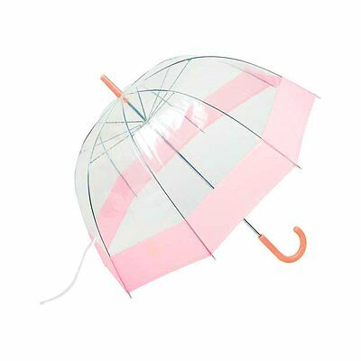Dome Umbrella Totes Bubble Clear Pink Polyester Windproof Rain Canopy Women