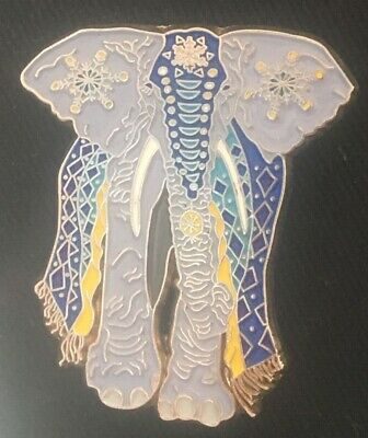 Psychedelic Elephant  with flowers Pin Limited Edition
