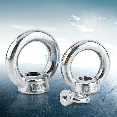 M6-M16 Stainless Steel DIN582 Metric Lifting Eye Nut Ring Shape Nuts Threaded