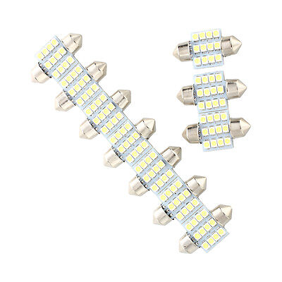 10x 12 3528SMD LED Soffitte Lampe Sofitte Innenraumbeleuchtung 31mm 12V Weiss C2