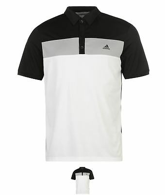 DI MODA adidas Colourblock Golf Polo Mens Black/Grey