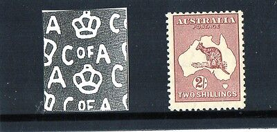 1940 Australia Kangaroo Collection C of A W/M 2/- Maroon Mint Never Hinged