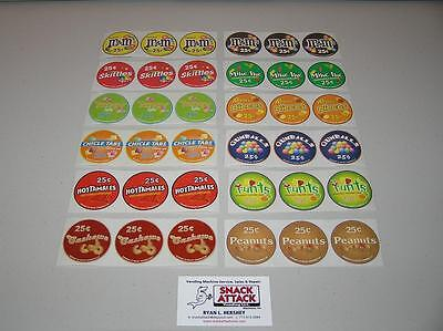 Vendstar 3000 Bulk Candy Vending Machine / (36) Candy Label Stickers - New Oem
