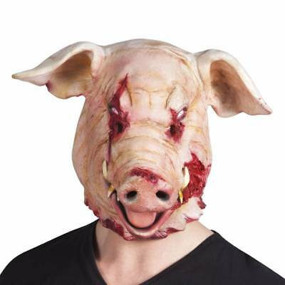 Bloody Pig Severed Head Mask Horror Halloween Fancy Dress