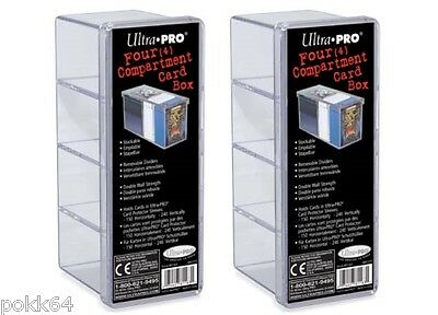 2 x Ultra Pro Deck Box deckbox storage Box 4 compartments for cards