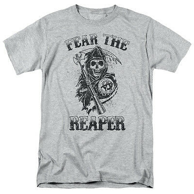 Sons of Anarchy SOA FEAR THE REAPER Licensed Adult T-Shirt All Sizes