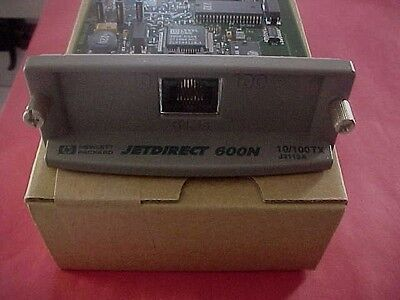 HP JETDIRECT NETWORK PRINT SERVER CARD LASERJET 600N J3113A REFUBISHED 10/100tx