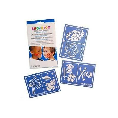 Snazaroo STENCILS Fantasy BOYS Face Paint Party Make Up Reusable Face Painting