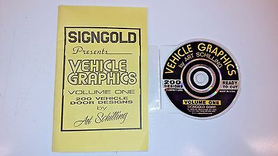 Signgold Art Schilling 200 Vehicle Graphics Vol. 1 Sign Graphics Sign Art CD