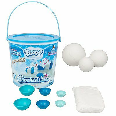 Floof Modeling Clay - Reuseable Indoor Snow - Snowball Maker With 7 Pieces.