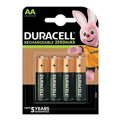 4 x Duracell AA 2500 mAh NiMH Rechargeable Ultra Batteries HR6 MN1500 Duralock