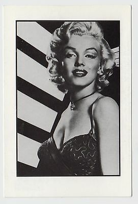 MODERN POSTCARD - Marilyn Monroe in close up, stripes in background