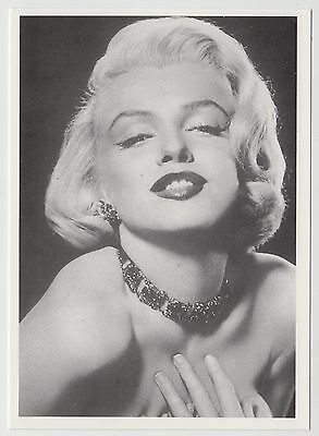 MODERN POSTCARD - Marilyn Monroe in close up, hand on neck