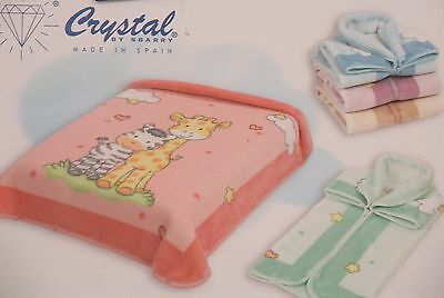 Newborn Baby Boy Girl Blankets Soft Fleece With Zip Cot Pram Crib Babies Bedding