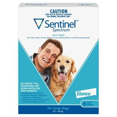 Sentinel Spectrum for Large Dogs 6 Pack White flea heartworm worms