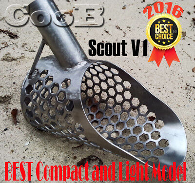 Beach Sand Scoop  SMALL  *SCOUT* Stainless Steel Hunting Detector Tool CooB