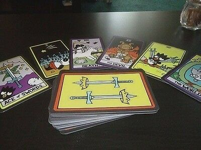 "Hello Kitty Tarot Card Full Deck Minor & Major Arcana 78 Card  4"" 5/8""  X 3"" 1/4"
