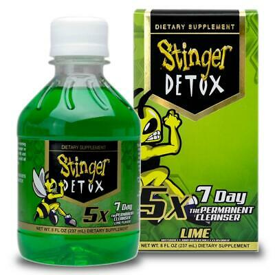 NEW Stinger Total 7-day Detox 5X Extra Strength 8oz Lime The Permanent Cleanser