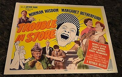 TROUBLE IN STORE 8 LCs '55 Margaret Rutherford, Norman Wisdom,