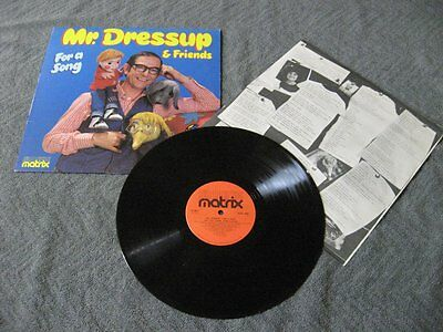 """Mr Dressup and friends for a song - LP Record Vinyl Album 12"""""""