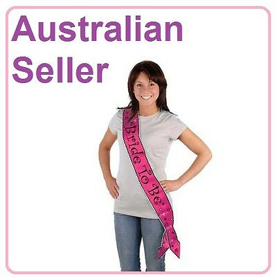 Bride To Be Pink Satin Sash - Hens Night Party