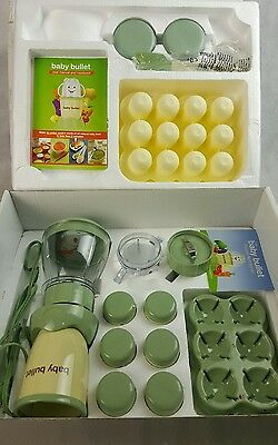 Baby Bullet Complete Baby Food Making System Turbo MINT CONDITION