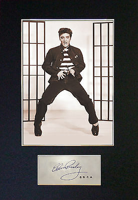 ELVIS PRESLEY - Jailhouse Rock Photo + Autograph inc FREE WORLDWIDE SHIPPING
