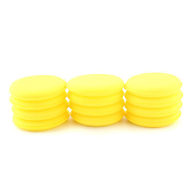 12x Car Glass Waxing Polish Foam Sponge Wax Applicator Cleaning Detailing Pads