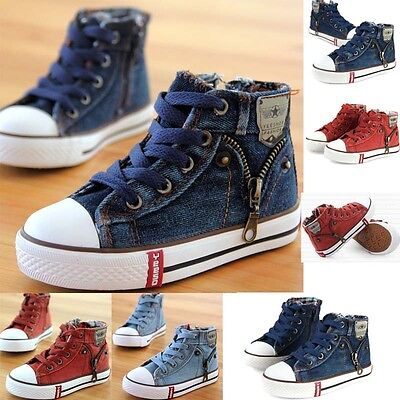 Hot Kids Boys Girl High Top Canvas Shoes Children Casual Fashion  Sneakers Shoes