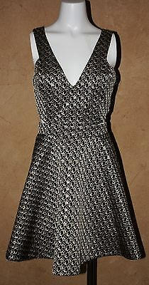 c340b768fca NWT Gianni Bini Juniors Velvet Illusion Black And Gold Dress Size X-Small