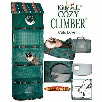 NEW Indoor Pet Cat Play Toy Furniture Kittywalk Cozy Climber Handcrafted Hanging