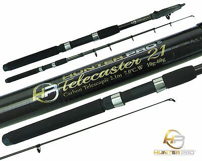 Telescopic 6ft 7ft Fishing Rod Carbon Travel Pike Bass spinning Rod HUNTER PRO
