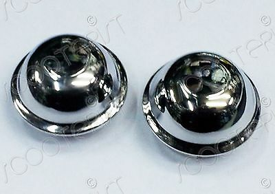 Vespa LML Front Rear Wheel Hub Center Caps Chrome PX P Star Stella T5 Lusso MY