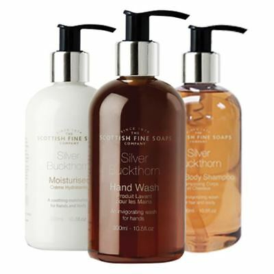 Scottish Fine Soaps Silver Buckthorn Bathroom Set (Wash, Lotion & Shower Gel)