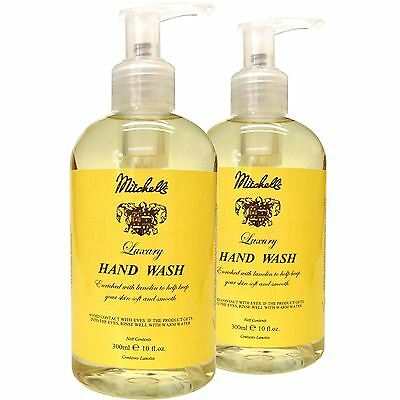 Mitchell's Wool Fat Original Lanolin Hand Wash with Pump Top Twin Pack