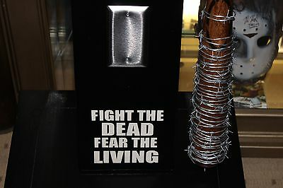 """Negan """"Lucille"""" Display Wall Hanger~The Walking Dead~Made Custom For You!"""