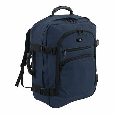 Cabin Backpack Hand Luggage Travel Camping Holdall 44 Litre Rucksack Bag Navy