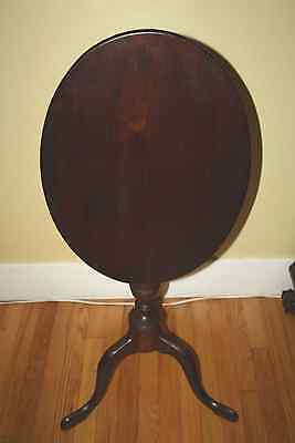 18th Century Queen Anne Tilt Top Table Candle Stand